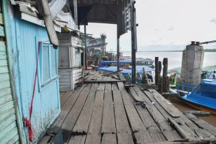 Sections of the Stabroek Market Wharf.